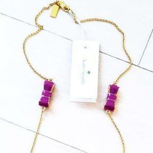 kate spade Jewelry - KATE SPADE Baja BOW Rose MOON RIVER Necklace